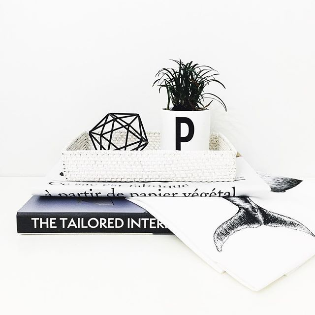 Black and white interiors @brownpaperlemon