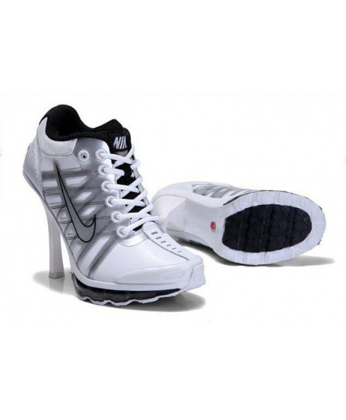 the best attitude a0f4c 749e6 Nike Air Max 2012 Heels Shoes White Silver Black