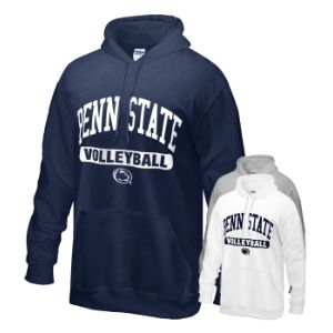 Penn State Hood with Volleyball Print