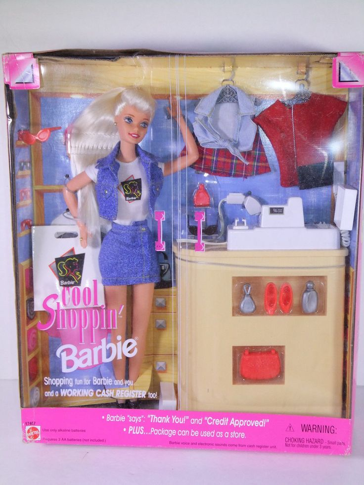 Cool shoppin barbie with talking cash register 1997