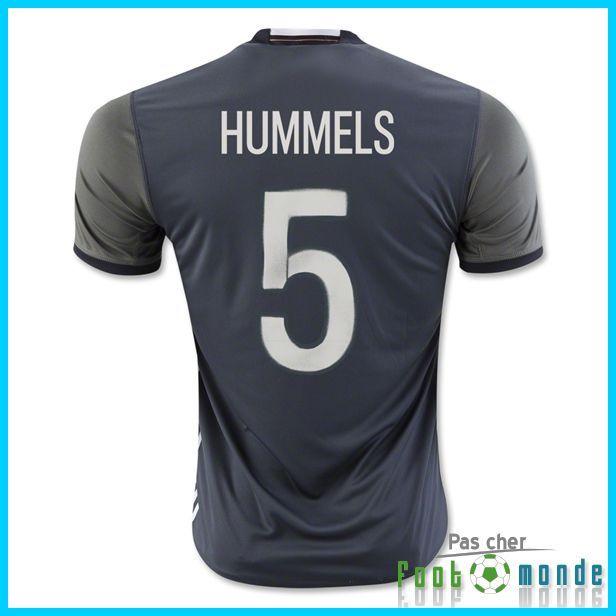 Official Nouveau Maillot Allemagne Euro 2016 HUMMELS 5 Exterieur