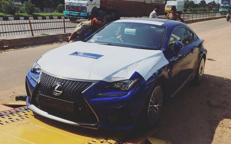 Another Lexus player, the RC-F spied on the Indian soil.