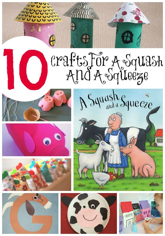 10 Crafts for Book, A Squash & A Squeeze by Julia Donaldson (from Crafts On Sea)