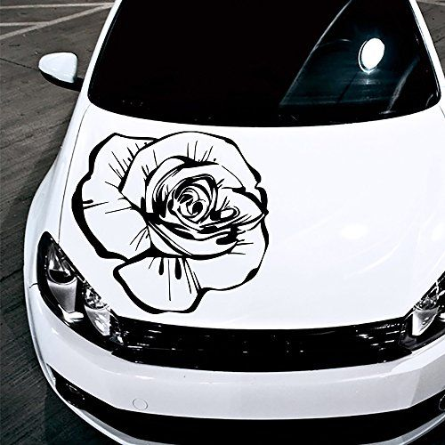 Car Decals Hood Decal Vinyl Sticker Rose Flower Floral Auto Decor Graphics  OS160