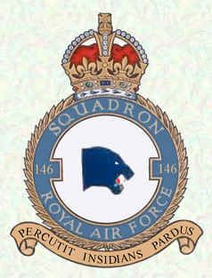 #146 Squadron RAF was a Royal Air Force Squadron formed as a fighter unit in India in World War II. Formed on 15 October 1941 at Risalpur, India, then moved to Assam where it was equipped with Mohawks. Upon arrival in Calcutta it was equipped with Hurricanes and flew missions over Burma. It converted to Thunderbolts before its disbandment in June 1945.