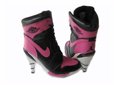 Black and pink nikes. Find this Pin and more on Jordan/Nike Heels ...