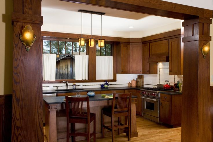 craftsman style kitchen lighting mission style kitchen cabinets new craftsman bungalow 6252