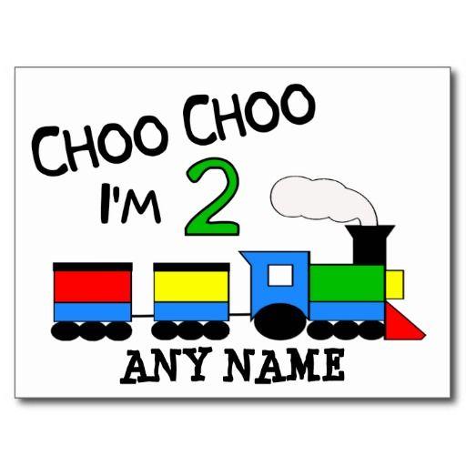 Choo Choo Im 2 With TRAIN Postcard