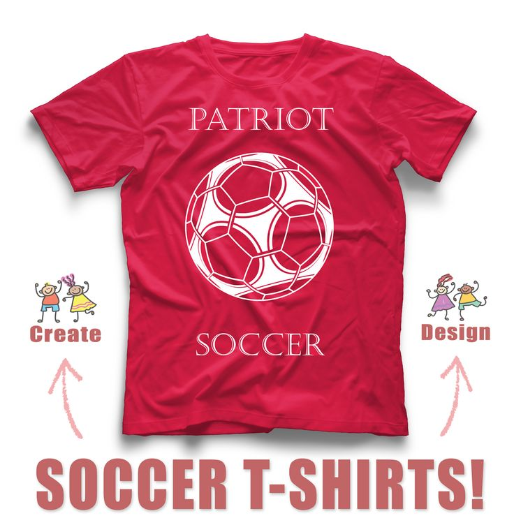 Top 25 ideas about soccer t shirt idea 39 s on pinterest for Design your own logo for t shirts
