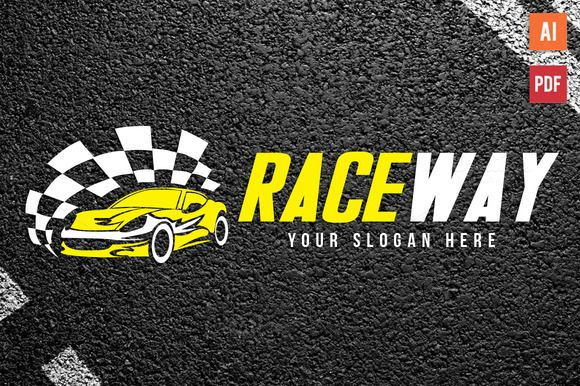 Auto Race Car Logo Template by Lucion Creative on Creative Market