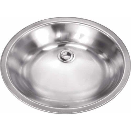 Miseno MSS181916L 19-1/8 Single Basin 18-Gauge Stainless Steel Bathroom Sink, Grey