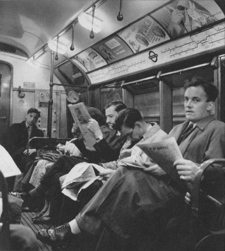 Northern Line | London in 1953 by Cas Oorthuys - Recommended by https://www.extraordinarylondon.com/