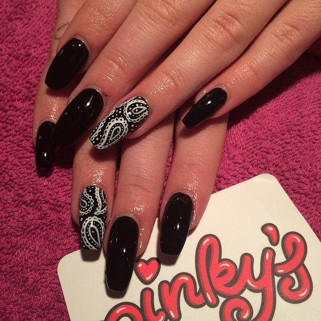Black coffin nail art☻♥