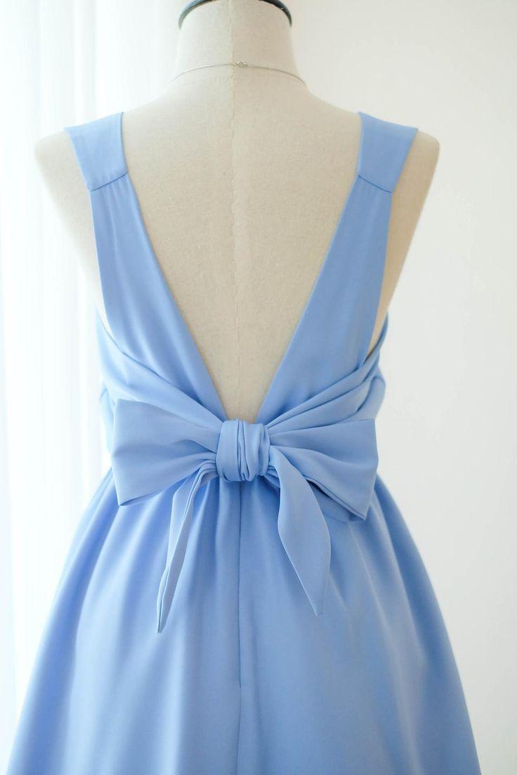 Satin Light Blue Dress Blue Bridesmaid Wedding Ball Gown  Etsy