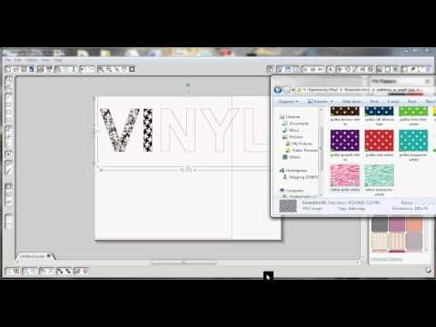 Video tutorial: an easy drag & drop method for filling with pattern to create your own print & cut files - Silhouette studio Designer Edition http://www.expressionsvinyl.com/fill-patterns.html