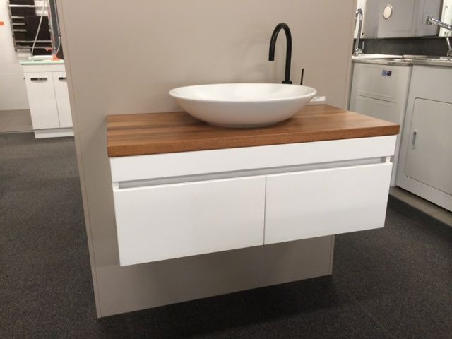 ABL Tile Centre - 900mm Allure Wall Hung Vanity with Timber Top, $2,133.00 (http://www.abltilecentre.com.au/900mm-allure-wall-hung-vanity-with-timber-top/)