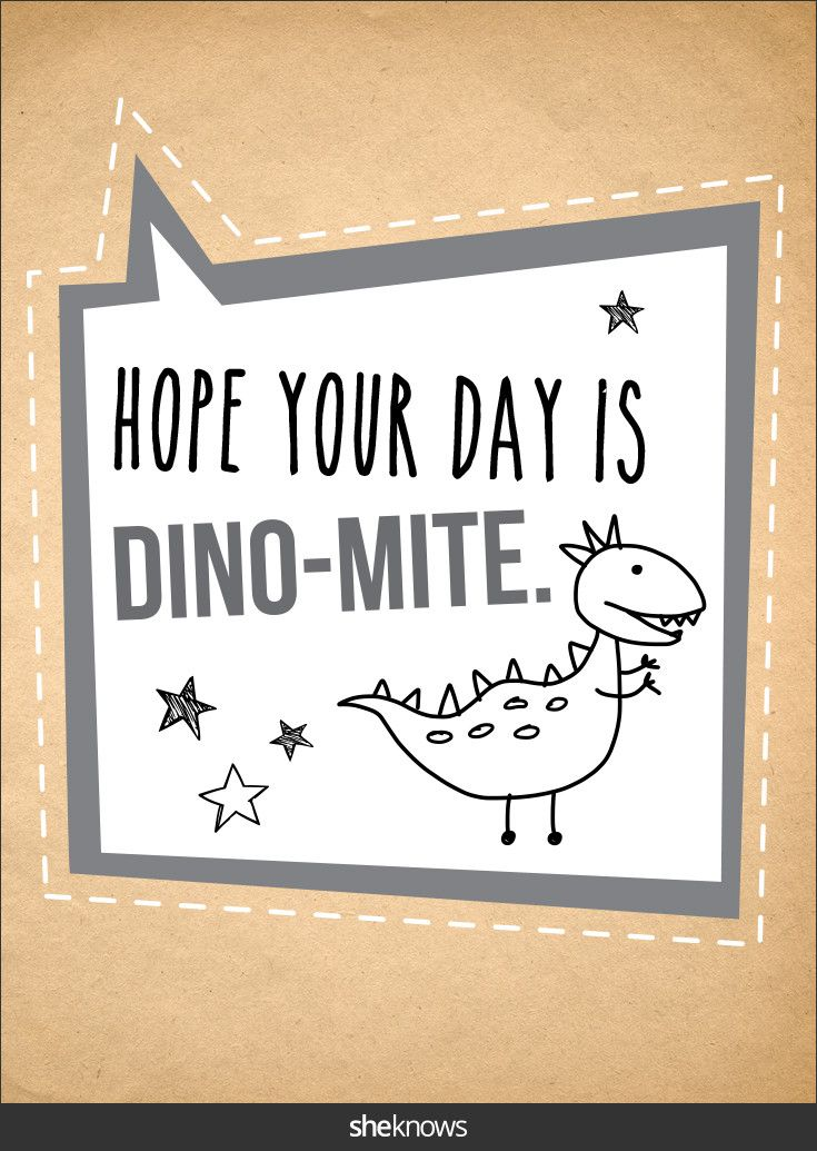 Thrill your little T. rex with this dinosaur note.Free encouraging printable…