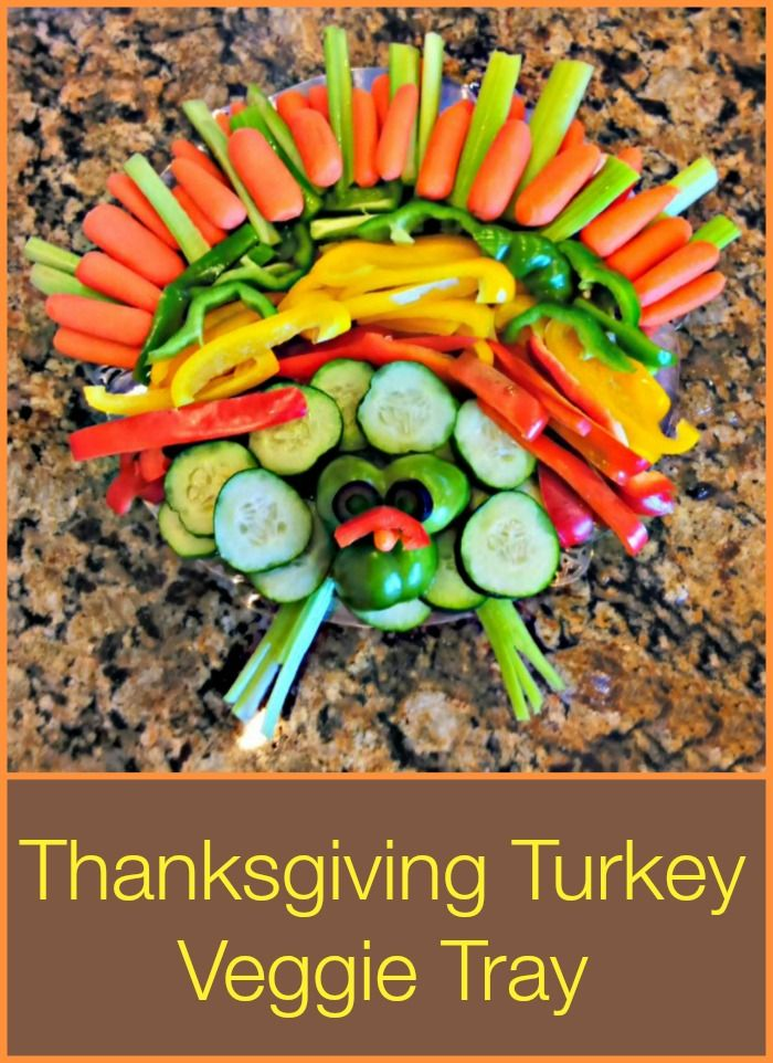 Turkey Veggie Tray - Cute idea to serve all sorts of colorful vegetables on Thanksgiving.