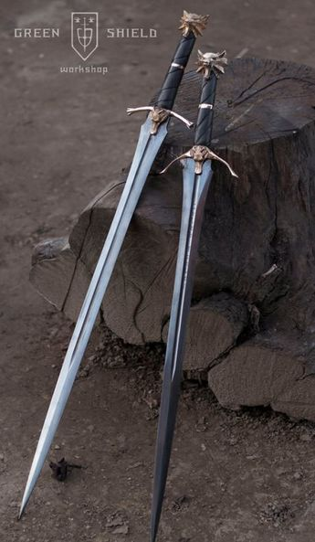 """Witcher swords. """"Steel and Silver sing for Justice"""" - Wake the White Wolf by miracle of sound."""
