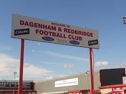 This is the huge sign that welcomes you to the ground.