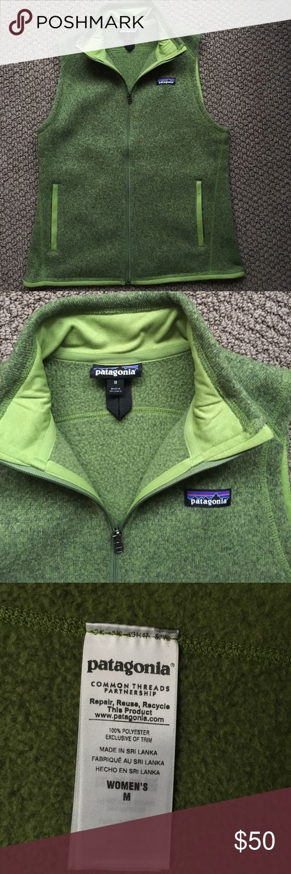 Patagonia Better Sweater Vest Patagonia's Better Sweater vest in lime green. Worn only a few times and still in great condition. Very comfy but light weight, perfect for the fall or spring!! Patagonia Jackets & Coats Vests