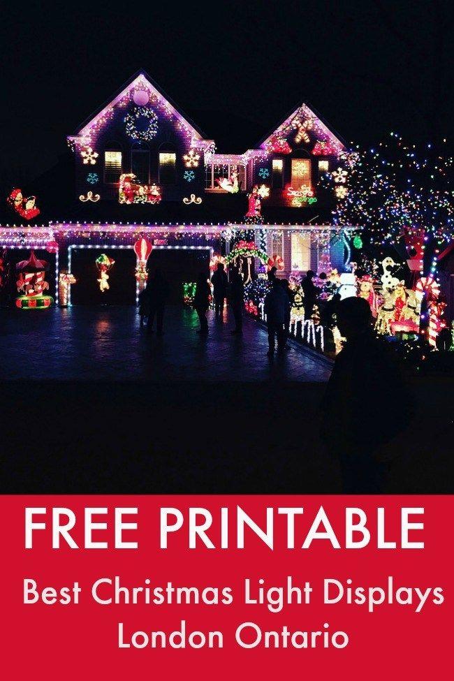 Free Printable Christmas Lights London Ontario Christmas Light Displays Best Christmas Lights Best Christmas Light Displays