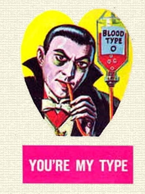 """Bah, I vant… to suck your blood, my love"" 