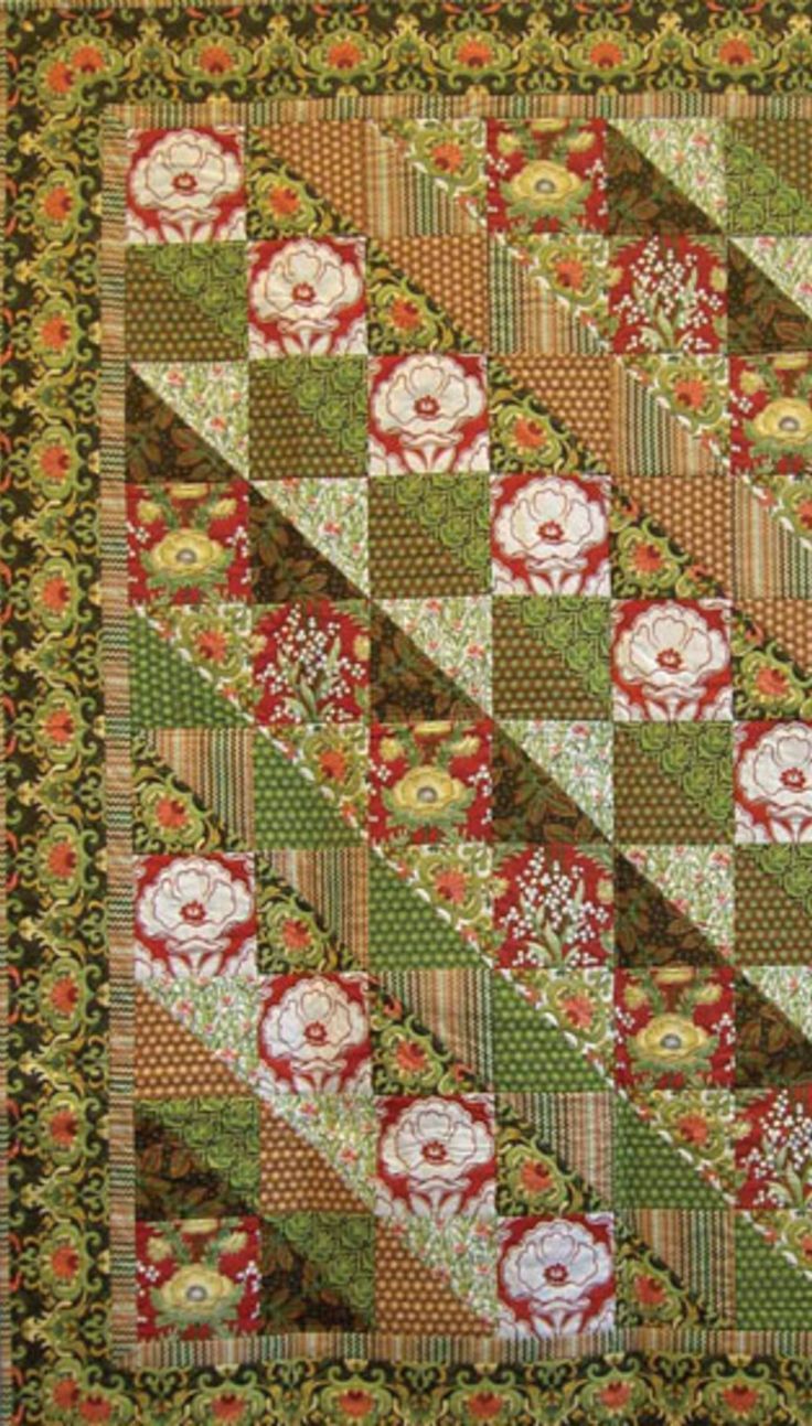 Lotus Garden Quilt, free tutorial here!