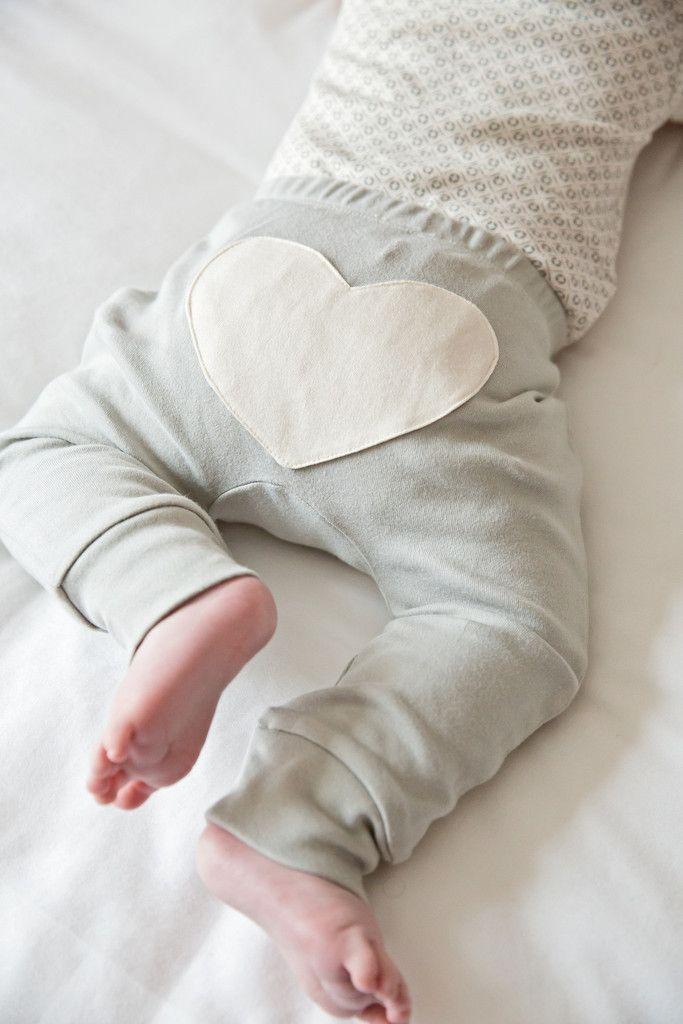 Dove Grey Heart Pants