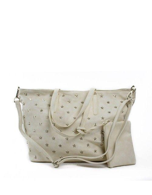 Τσάντα ώμου μεγάλη - Λευκό 39,99 €