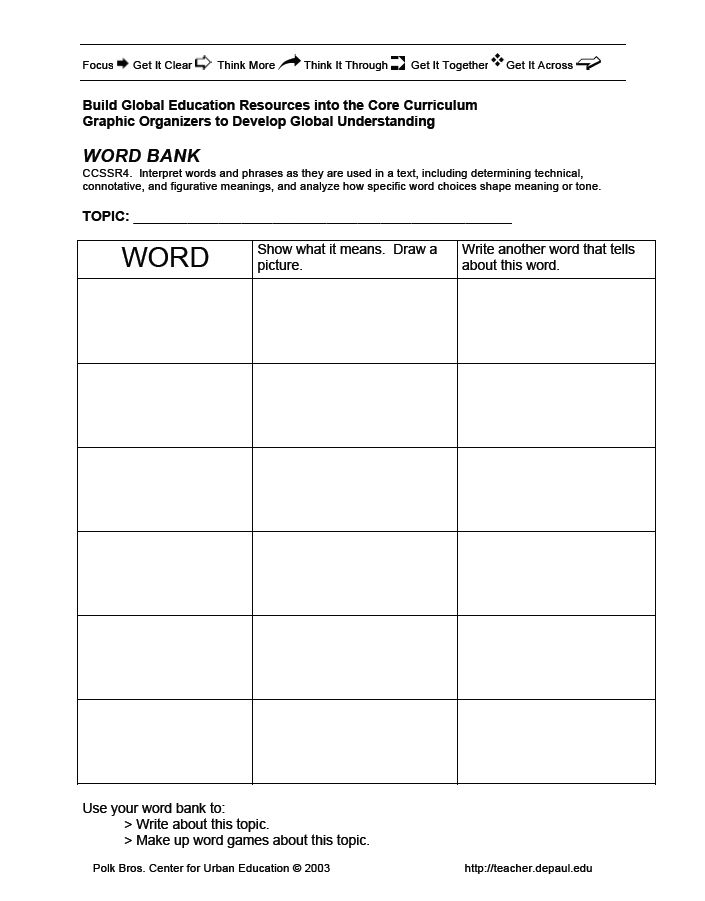 Common Core Graphic Organizers for Social Studies