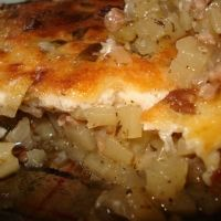 Bulgarian Moussaka (moo-sah-KA). you think the ingredients are a little strange (ie. the yogurt) but WOW! It is delicious!