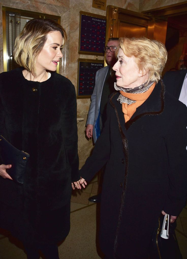 Sarah Paulson Holland Taylor Date Night December 2015 | POPSUGAR Celebrity