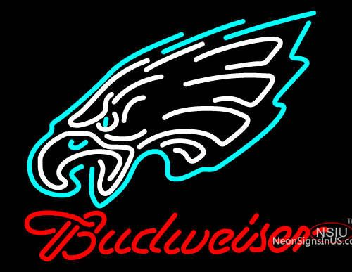 Budweiser Philadelphia Eagles NFL Real Neon Glass Tube Neon Sign,Affordable and durable,Made in USA,if you want to get it ,please click the visit button or go to my website,you can get everything neon from us. based in CA USA, free shipping and 1 year warranty , 24/7 service