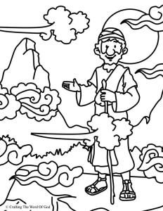 Elijah At Horeb Coloring Page