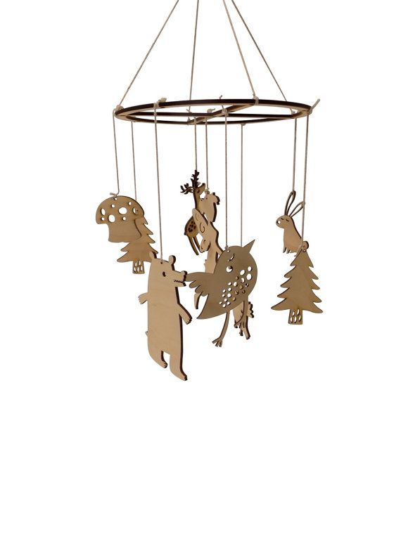 Forest woodland creatures baby crib nursery mobile by FunkyLaser
