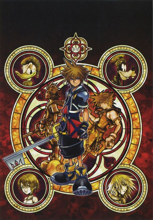 Kingdom Hearts II- I have this tapestry hanging in my hallway. It makes my heart happy every time I see it.
