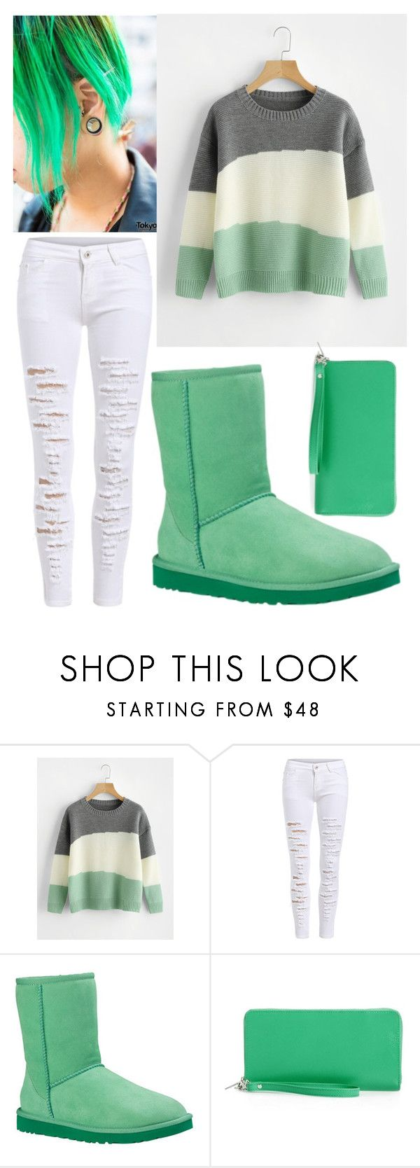 """""""mint sweater"""" by colekat ❤ liked on Polyvore featuring UGG and Nordstrom"""
