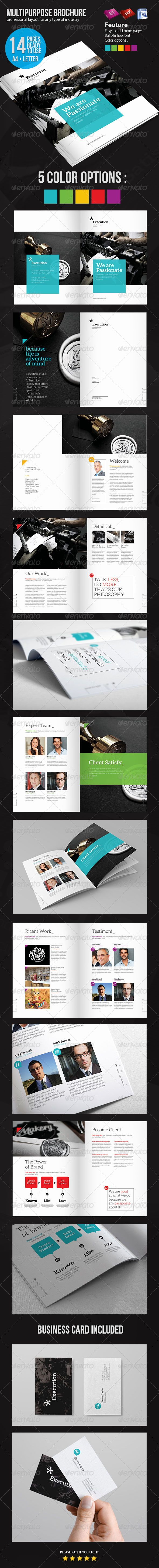 Business Brochure Template #graphicriver This is a professional and clean Business Brochure template that can be used for any type of Corporate and fully editable and customizable. 14 pages  Easy to Customize Built-in free fonts A4 and letter size Paragraph Style 300 dpi – CMYK color print-ready with bleed #a4 #blue #brochure #business #businessbrochure #clean #corporate #green #letter #modern #print ready #professional #purple #red #yellow