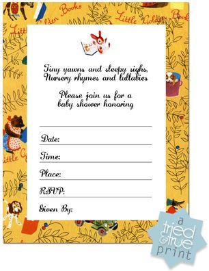 little golden book shower invitation baby shower pinterest