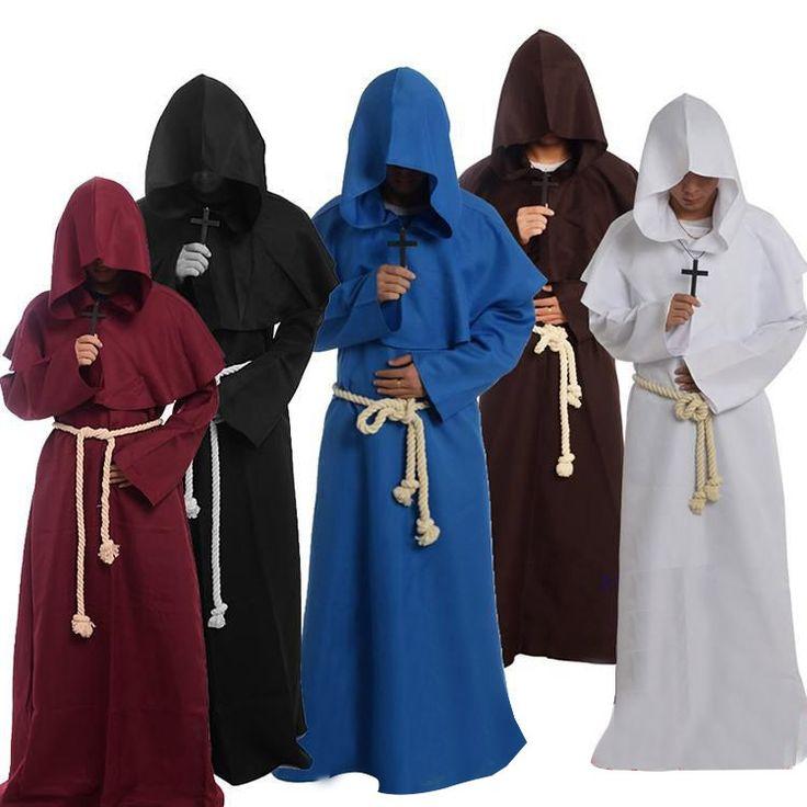 Купить товарХэллоуин древнего   костюм красный монах одеяние мастер христианской костюм косплей костюмы полный комплект в категории Одеждана AliExpress.                             2015 Хэллоуина древние-костюм красный монах Robe мастер Christian костюм Косплей Костюм FUL