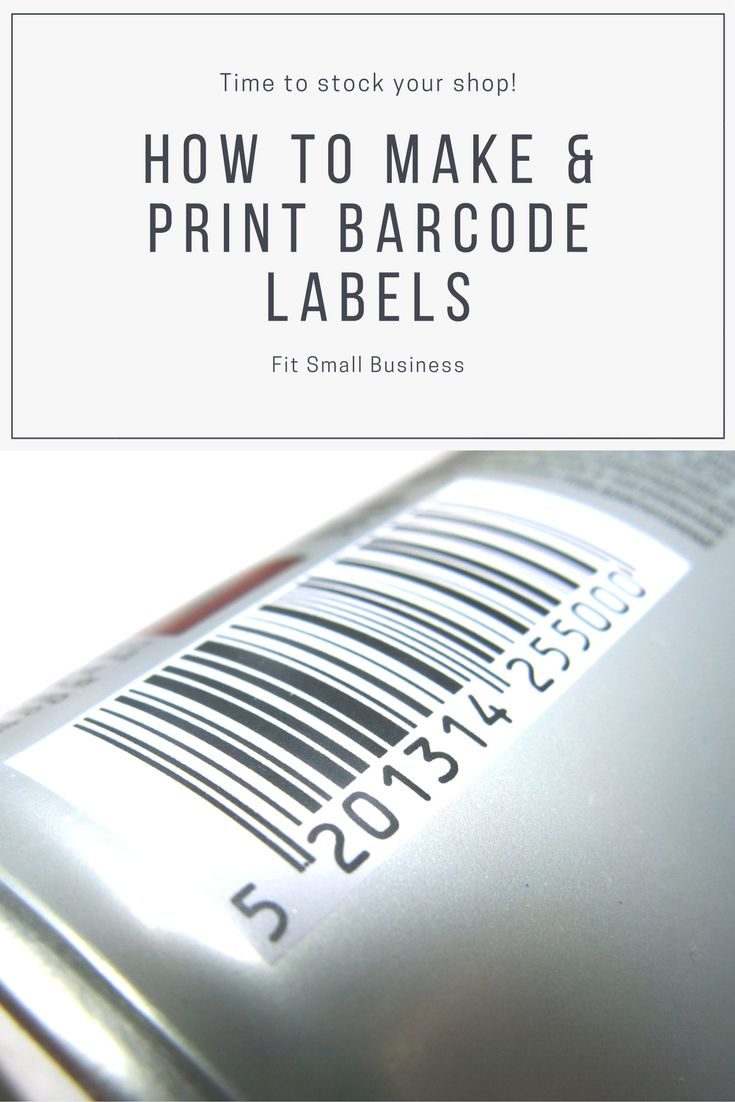 It is a picture of Unusual How to Make My Own Barcode Labels