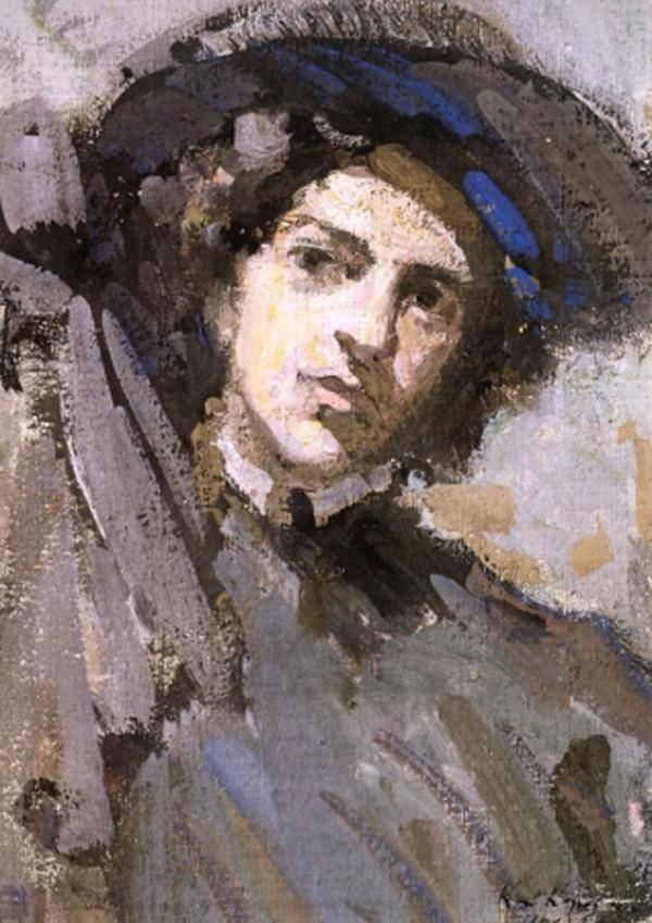 КОНСТАНТИН КОРОВИНПортрет Н. И. Комаровской. 1908Холст на картоне…