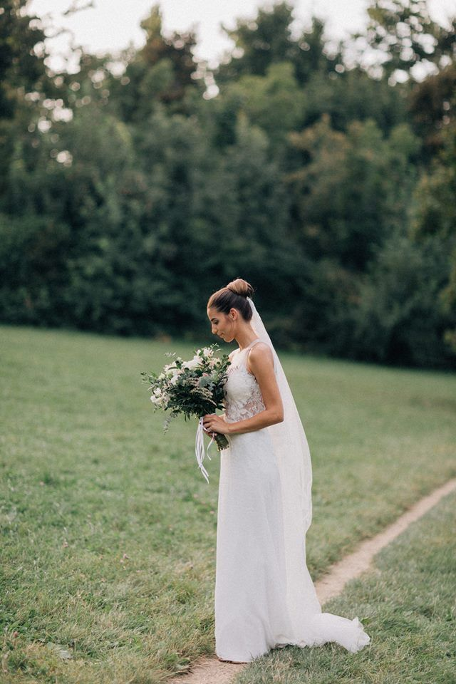 Anna is wearing the Budapest gown / Nora Sarman Bridal