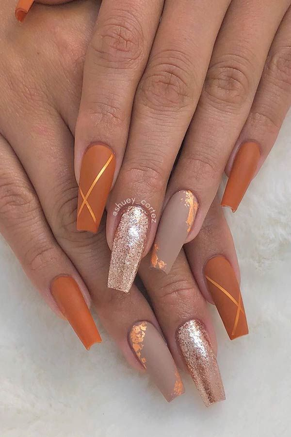 23 Matte Nail Art Ideas That Prove This Trend Is Here To Stay Page 2 Of 2 Stayglam Fall Acrylic Nails Pretty Acrylic Nails Matte Nails Design