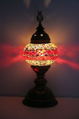 TURKISH OTTOMAN MOROCCAN MOSAIC TABLE TOP BEDSIDE LAMP NIGHT LIGHT LANTERN