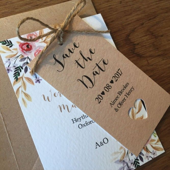 Great Tribal, Boho Inspired Save The Dates. This Beautiful Floral Watercolour  Design Is Printed On. Wedding Invitation SetsWedding StationeryFloral ...