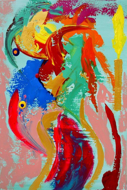 New DR Freud dream - Painting,  36x24 cm ©2015 par Leo's Fine Art -  Peinture