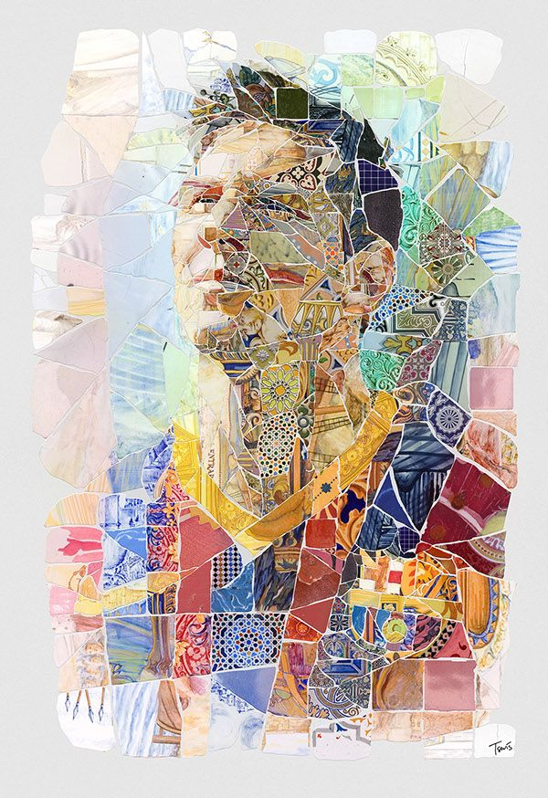 A series of tribute artworks for Lionel Messi, the city and FC Barcelona. Created following the concept of Trencadís mosaic technique introduced by Antoni Gaudi and other Catalan artists.