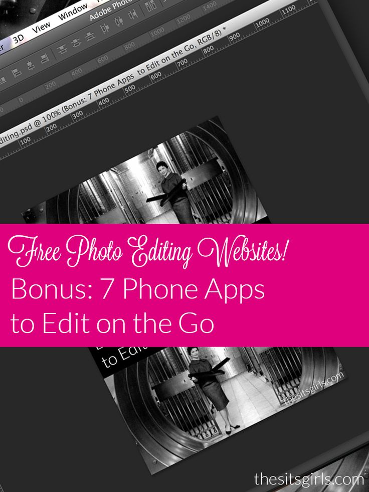 A list of free photo editing sites and apps that will make bloggers smile.